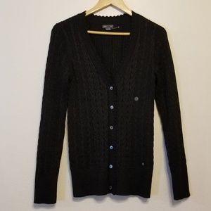 Eddie Bauer black & metallic sheen sweater